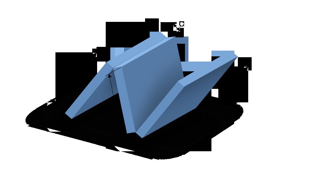 Schaumstoffzuschnitt dreiteiliges Polster