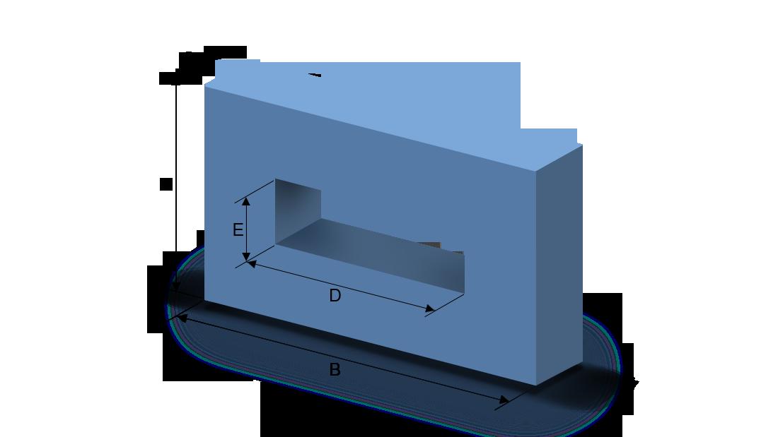 Schaumstoffzuschnitt Rechteck mit Aushöhlung
