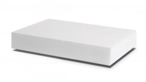 PUR 25/16 Weiß, sehr weich (Rückenpolster, Kopfkissen, Nackenstützkissen, Soft-Topper)