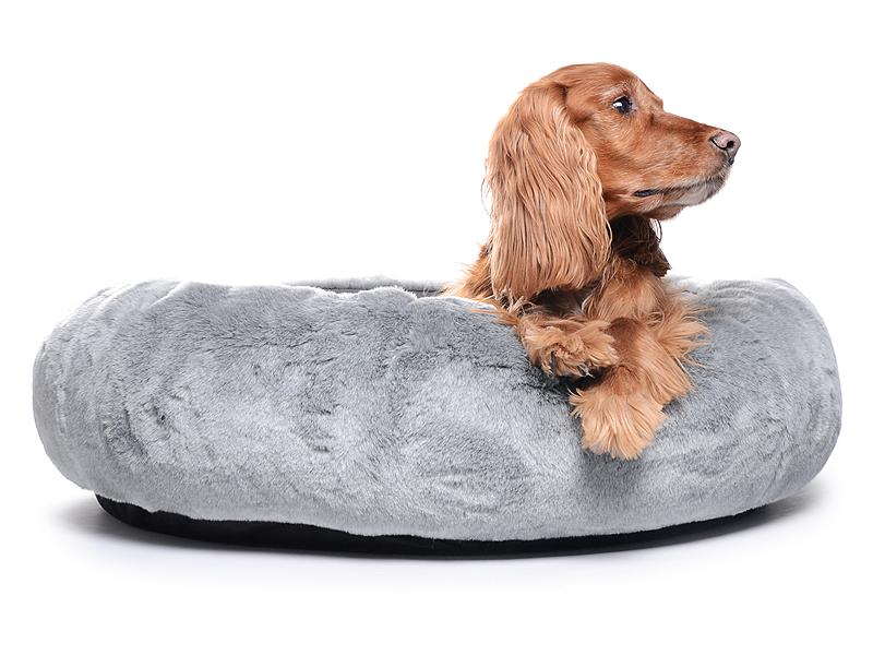Hundebett aus Pelz ähnlichem Material - mypado K-Nax Fake Fur ...