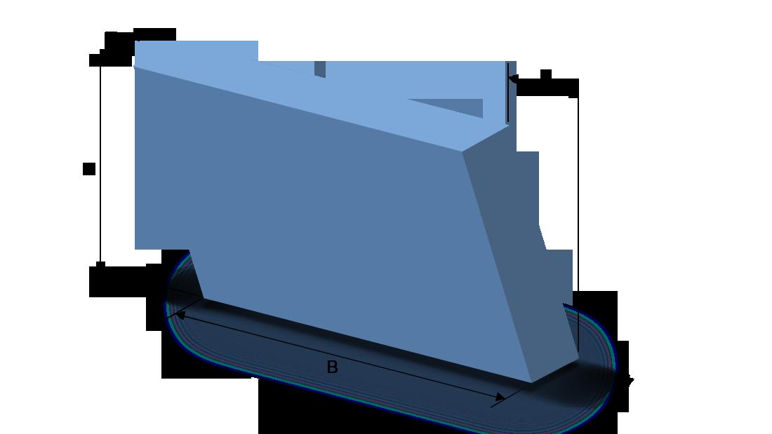 Schaumstoffzuschnitt Parallelogramm
