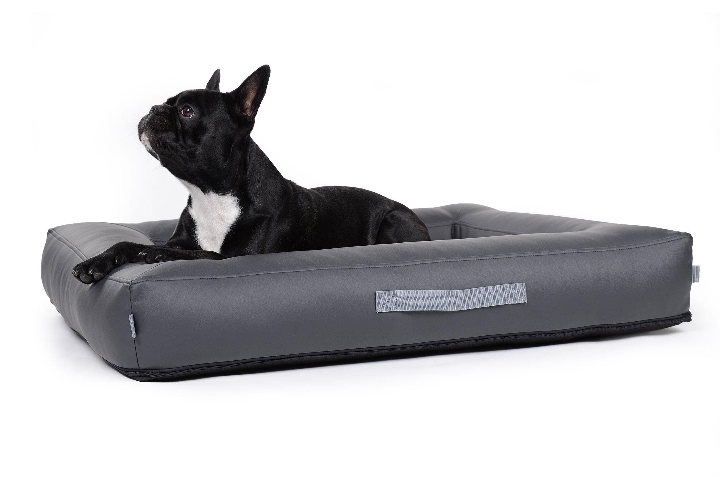 hundebett aus schmutzresistentem kunstleder mypado. Black Bedroom Furniture Sets. Home Design Ideas